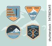 set logos club climbing. storm...   Shutterstock .eps vector #547882645