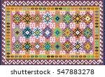 colorful oriental mosaic kilim... | Shutterstock .eps vector #547883278