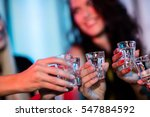 group of friends toasting... | Shutterstock . vector #547884592