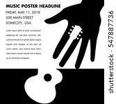 unusual guitar poster  ideal... | Shutterstock .eps vector #547887736