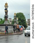 Small photo of 14 july 2012. Ornate bridge in Amsterdam, The Netherlands.