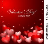 beautiful valentine banner with ... | Shutterstock .eps vector #547892356