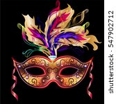 mardi gras mask isolated on... | Shutterstock .eps vector #547902712