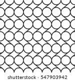 monochrome linked circles... | Shutterstock .eps vector #547903942