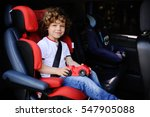 baby boy with curly hair... | Shutterstock . vector #547905088