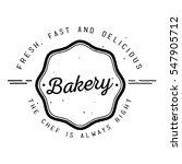 bakery label design | Shutterstock .eps vector #547905712