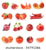 all red. food collection... | Shutterstock . vector #54791386