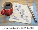 smart goal setting concept  ... | Shutterstock . vector #547914385