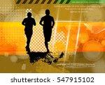 marathon runners  vector | Shutterstock .eps vector #547915102