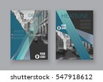 annual report abstract cover... | Shutterstock .eps vector #547918612