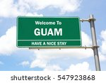 green overhead road sign with a ... | Shutterstock . vector #547923868