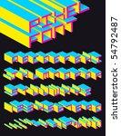 3d vector pixel alphabet | Shutterstock .eps vector #54792487