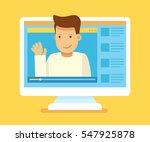 vector illustration in modern... | Shutterstock .eps vector #547925878