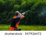 Young Man Skeet Shooting...