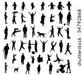 people silhouettes. eps... | Shutterstock . vector #54792868
