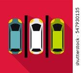 parking icon. flat illustration ... | Shutterstock . vector #547930135