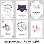 ornate valentine's greeting... | Shutterstock .eps vector #547934395