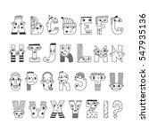 funny handwritten doodle... | Shutterstock .eps vector #547935136