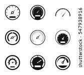 speedometer icons set. simple... | Shutterstock . vector #547938916