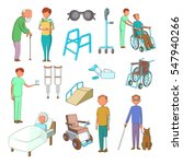 disability people care icons... | Shutterstock . vector #547940266