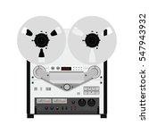 vintage reel to reel tape... | Shutterstock .eps vector #547943932