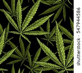 seamless pattern with marijuana ... | Shutterstock .eps vector #547944586