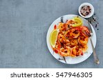 Grilled Tiger Prawns In White...