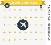 set of 39 transportation  icons | Shutterstock .eps vector #547946752