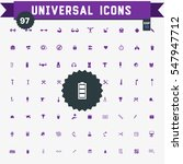 set of 97 universal icons