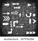 doodle sketch arrows hand drawn ... | Shutterstock .eps vector #547956286
