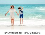 young mother and her son at... | Shutterstock . vector #547958698