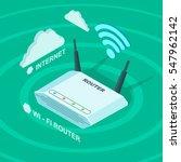 wi   fi wireless internet... | Shutterstock .eps vector #547962142