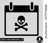 death skull calendar day icon.... | Shutterstock .eps vector #547976686