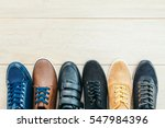 beautiful many leather shoes... | Shutterstock . vector #547984396