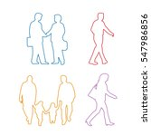 human icons sets silhouette... | Shutterstock .eps vector #547986856