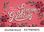 season's greeting template ... | Shutterstock .eps vector #547989895