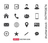 contact icon set vector | Shutterstock .eps vector #547993876