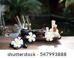 thai spa scrub treatment and... | Shutterstock . vector #547993888