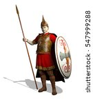 Stock photo an ancient celt warrior is ready for battle d render 547999288