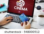 movies entertainment events... | Shutterstock . vector #548000512