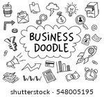 set of business doodle on white ... | Shutterstock .eps vector #548005195