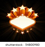 vegas emblem  black background | Shutterstock .eps vector #54800980