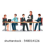 business people meeting at a... | Shutterstock .eps vector #548014126