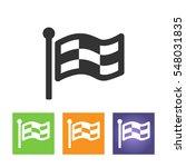 racing flag icon | Shutterstock . vector #548031835