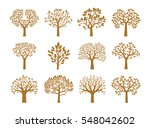 collection of golden trees....