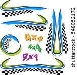 vehicle graphics  stripe  ... | Shutterstock . vector #548052172