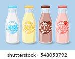 bottles with strawberry  banana ... | Shutterstock .eps vector #548053792