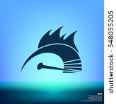 high speed burning symbol icon | Shutterstock .eps vector #548055205