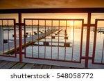 yacht port over beautiful... | Shutterstock . vector #548058772