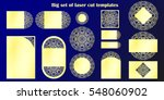 big set of laser cut template.... | Shutterstock .eps vector #548060902
